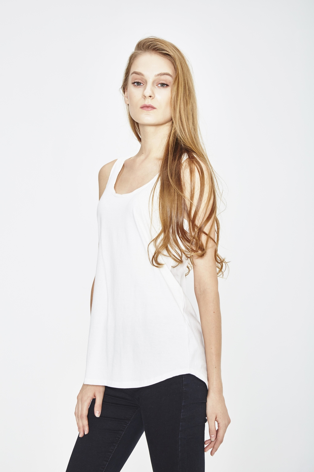 WENHUA DUVERGÉ White Organic Tank Top - Side Cropped Image