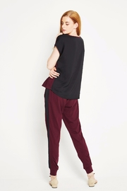 WENHUA DUVERGÉ Maroon Organic Cotton Tee - Front full body