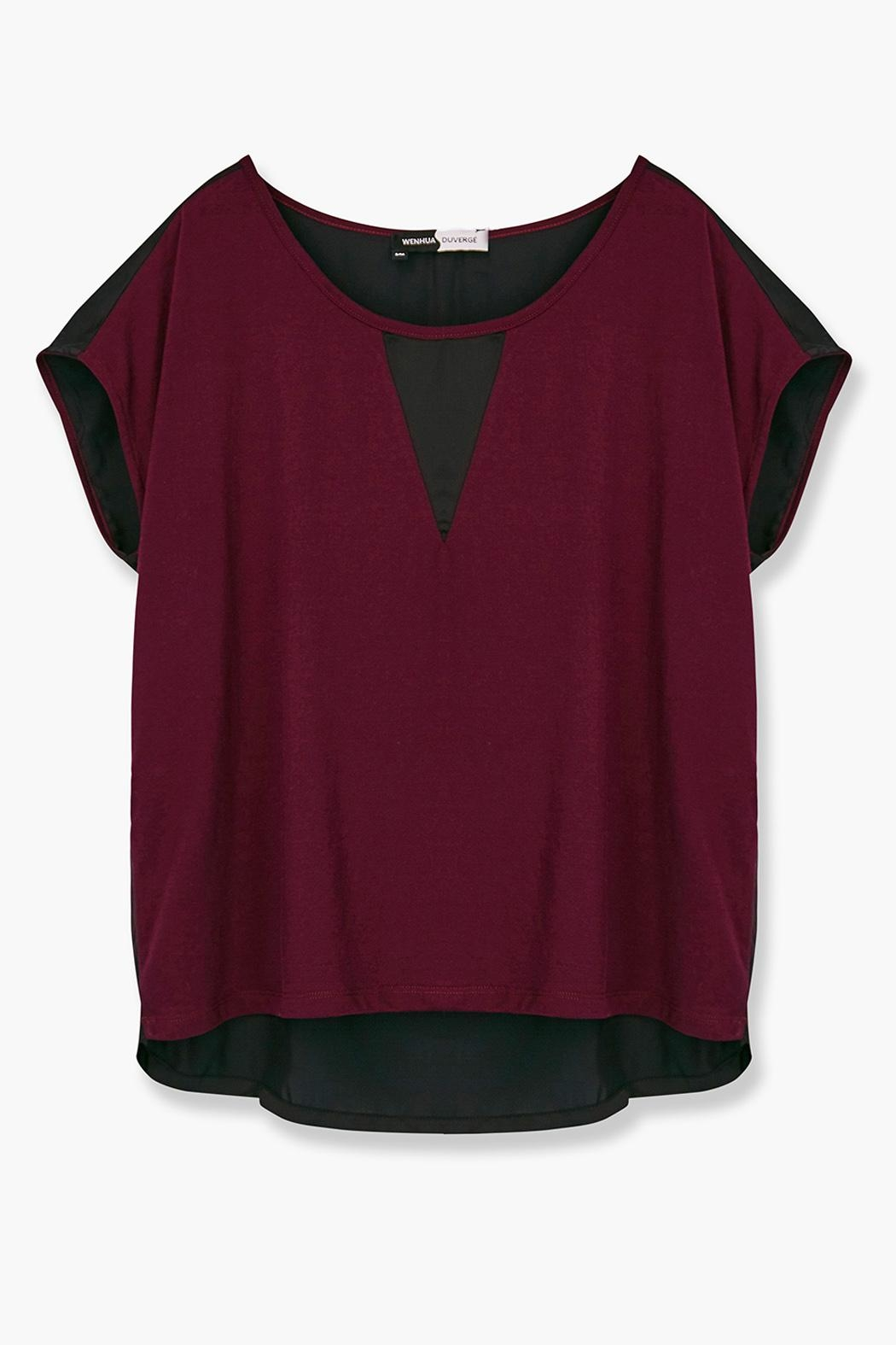 WENHUA DUVERGÉ Maroon Organic Cotton Tee - Back Cropped Image