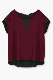 WENHUA DUVERGÉ Maroon Organic Cotton Tee - Back cropped