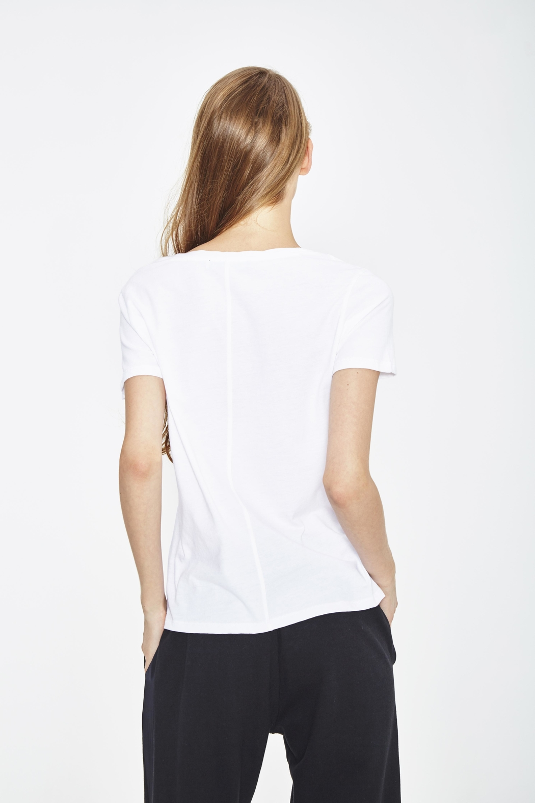 WENHUA DUVERGÉ White Organic Cotton Tee - Front Full Image
