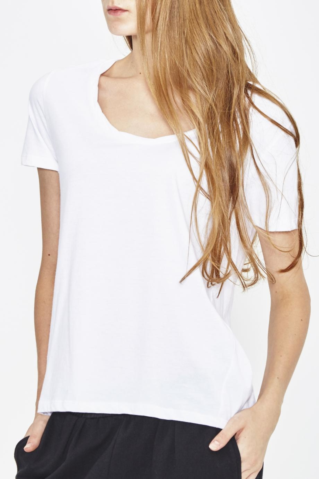 WENHUA DUVERGÉ White Organic Cotton Tee - Front Cropped Image