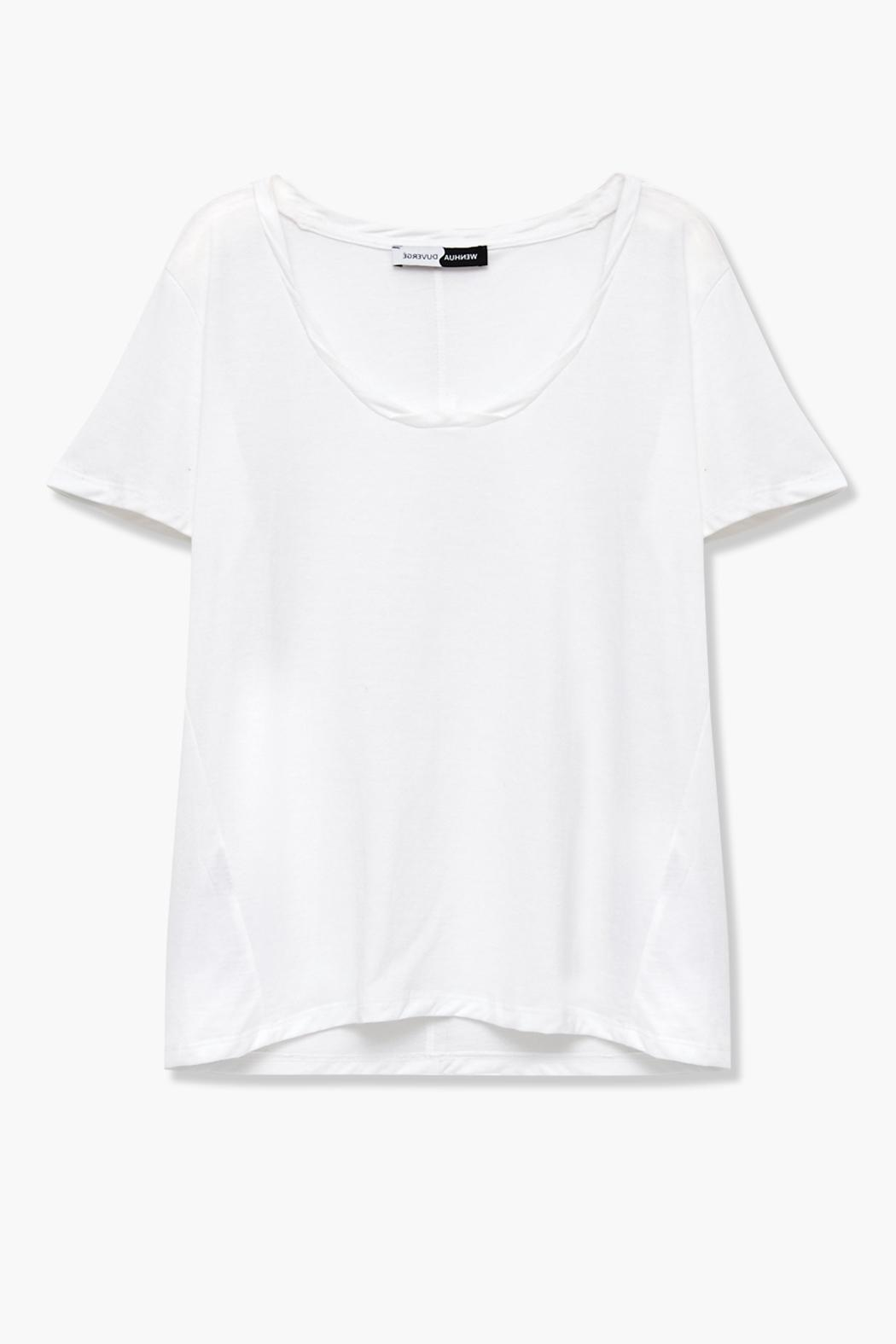 WENHUA DUVERGÉ White Organic Cotton Tee - Back Cropped Image