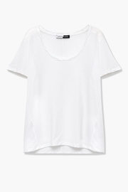 WENHUA DUVERGÉ White Organic Cotton Tee - Back cropped