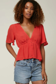 O'Neill Wes Solid Top - Front cropped