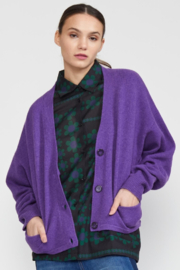 Cynthia Rowley Wesley Merino Cashmere Blend Cardigan - Product Mini Image