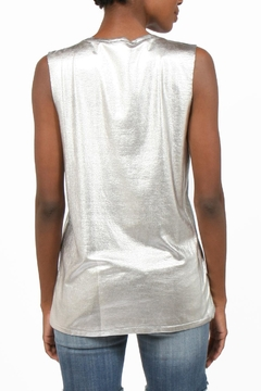 weslin + grant Metallic Distressed Sleevless Top - Alternate List Image