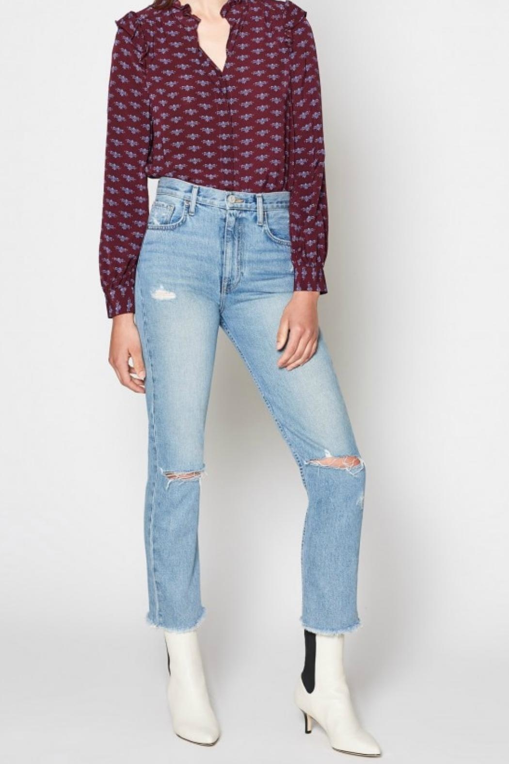 Joie Weslyn Distressed Jeans - Front Full Image
