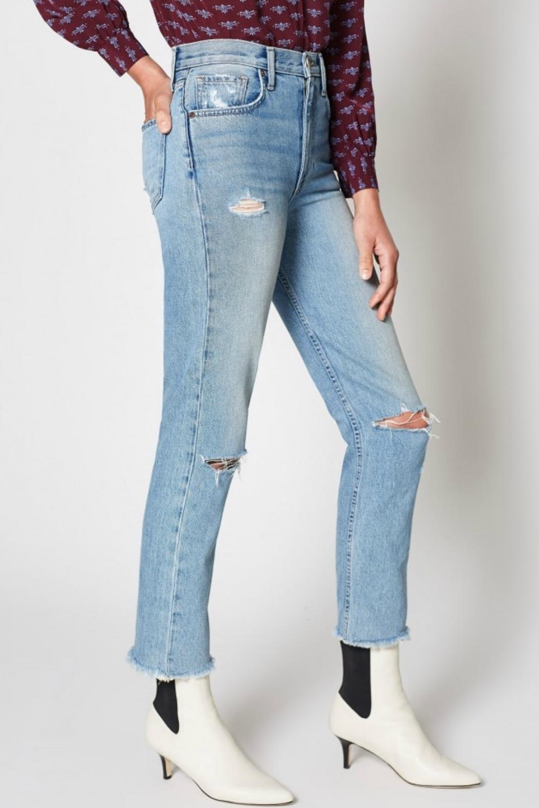 Joie Weslyn Distressed Jeans - Side Cropped Image