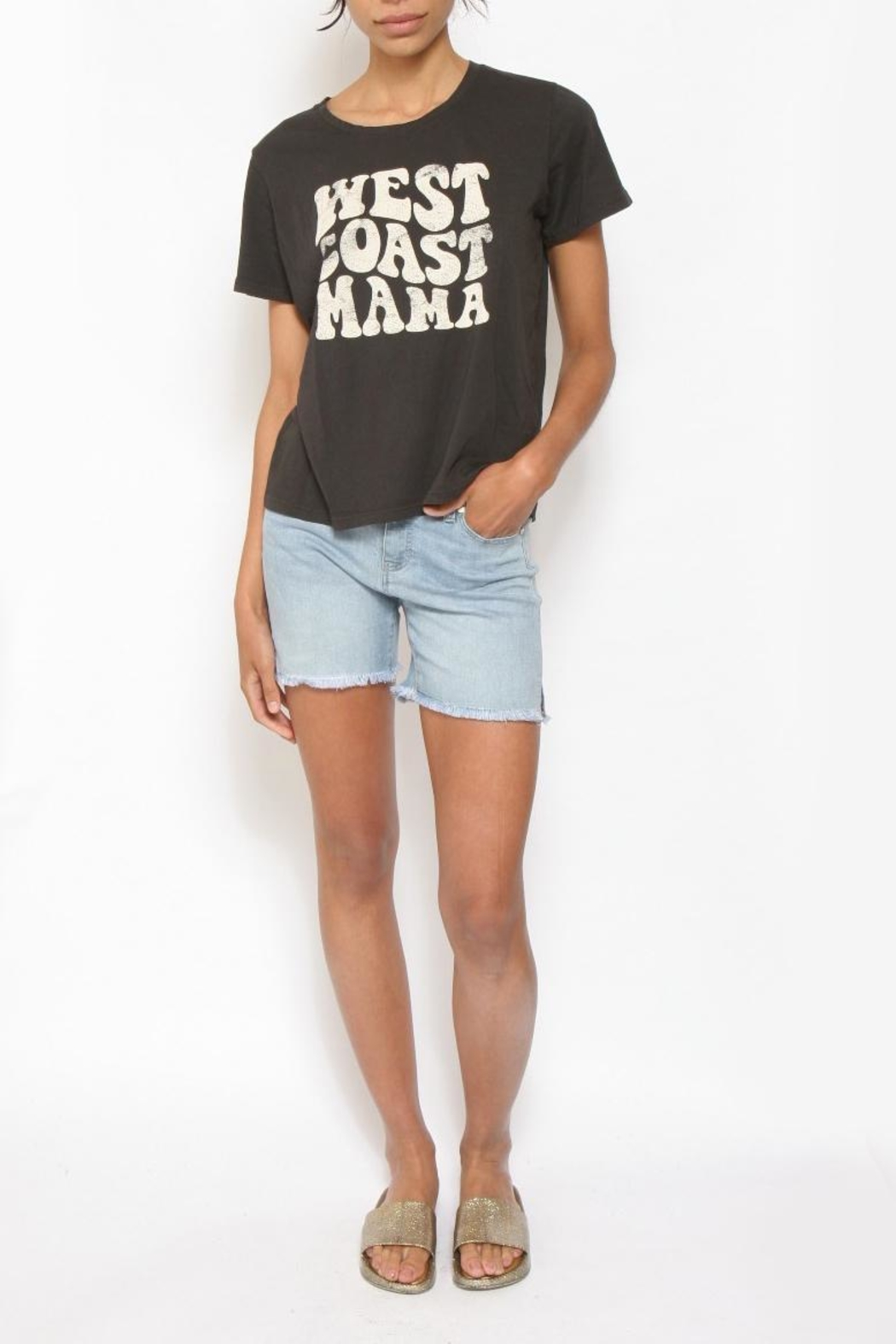 Feather 4 Arrow West-Coast Mama Tee - Front Cropped Image