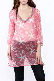 West Indies Wear Pink Starfish Tunic Top - Product Mini Image