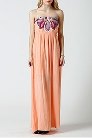 west 36th  Strapless Peach Dress - Front cropped