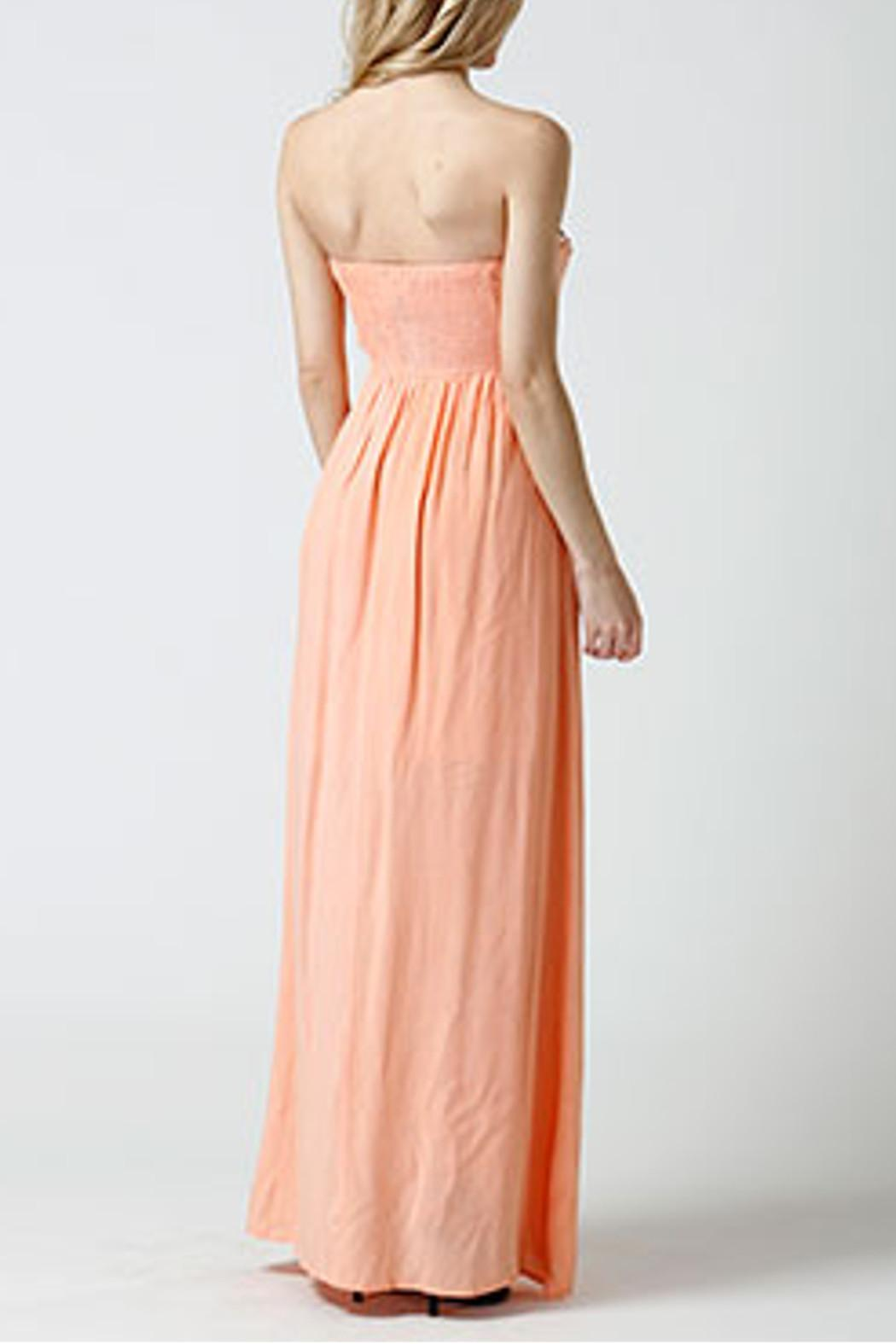 west 36th  Strapless Peach Dress - Side Cropped Image