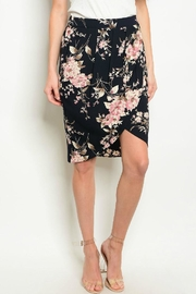 West Kei Floral Black Skirt - Product Mini Image