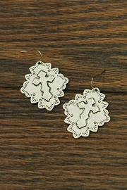 JChronicles Western Antique-Cross Earrings - Product Mini Image