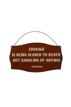 Rustic Ironwerks Courage Sign - Alternate List Image