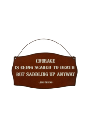 Rustic Ironwerks Courage Sign - Product Mini Image