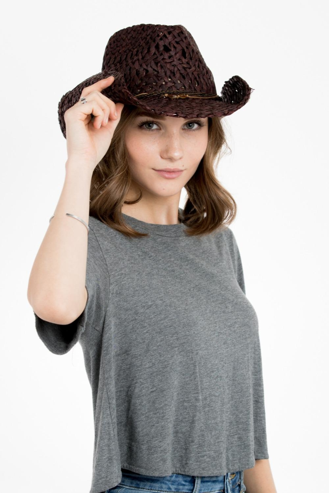 Peter Grimm Western Drifter Hat - Front Cropped Image