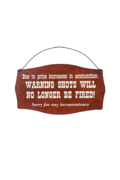 Rustic Ironwerks Ammunition Metal Sign - Product List Image