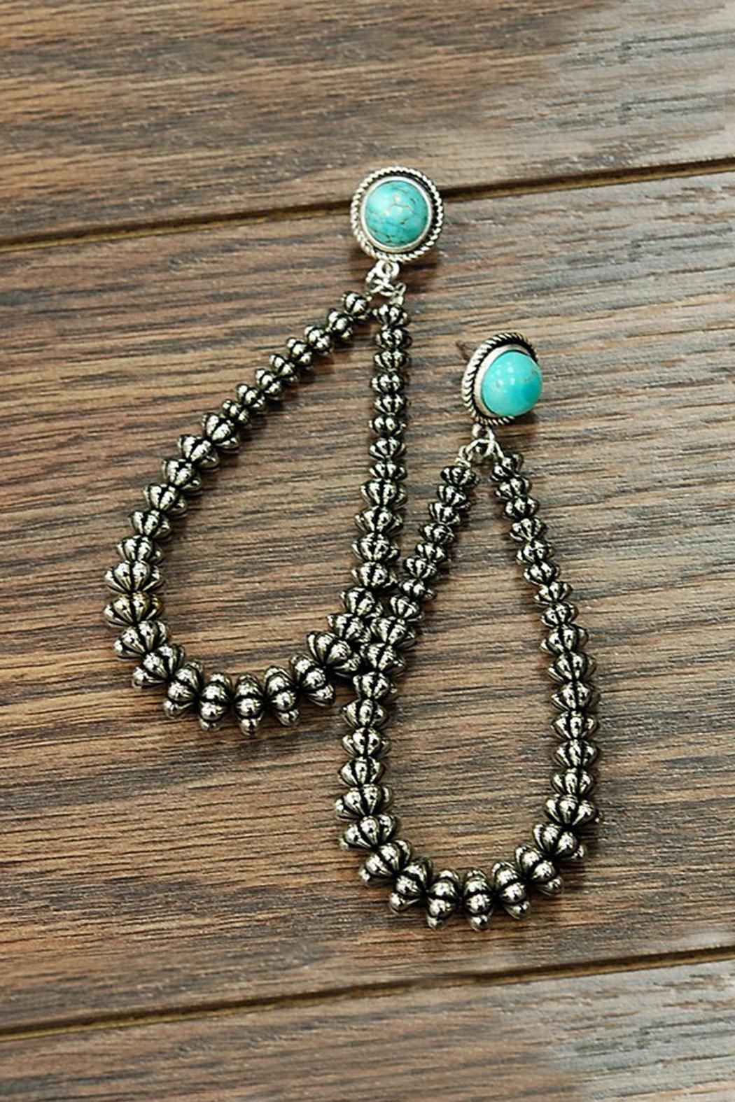 JChronicles Western Natural-Turquoise Earrings - Main Image