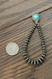 JChronicles Western Natural-Turquoise Earrings - Front full body