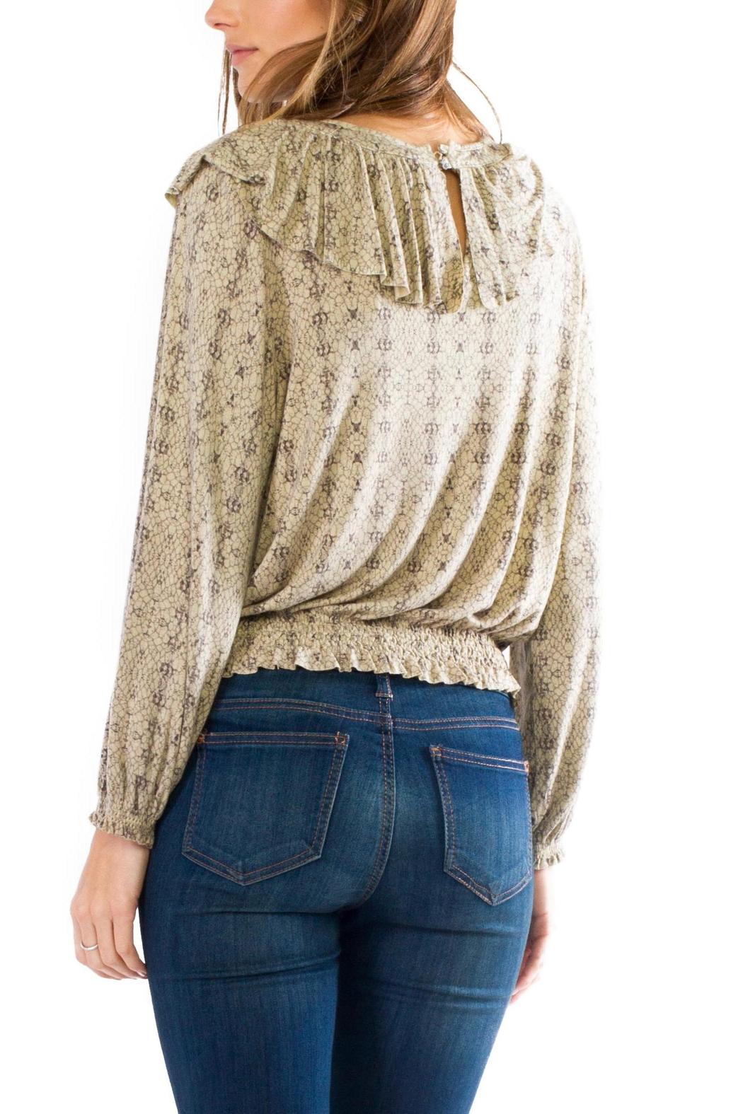 Anama Western Printed Blouse - Front Full Image