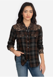Johnny Was Western Shirt Plaid - Front cropped