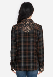 Johnny Was Western Shirt Plaid - Front full body