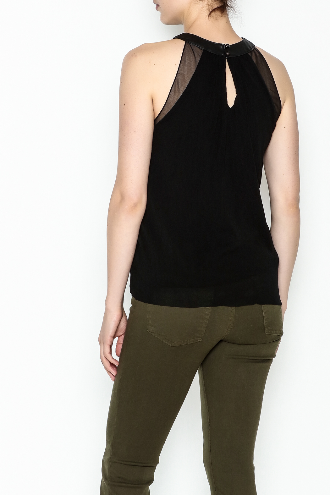 Weston Black Milan Top - Back Cropped Image