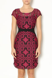 Weston Wear Wine Lace Dress - Product Mini Image