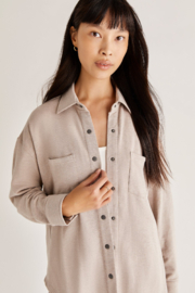z supply WFH Modal Shirt Jacket - Front cropped