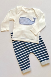 Mud Pie Whale 2pc Set - Front cropped