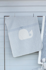 David Fussenegger Whale Baby Blanket - Front cropped