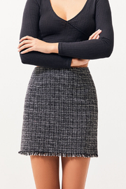 MinkPink What A Woman Tweed Skirt - Front cropped