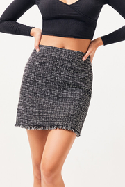 MinkPink What A Woman Tweed Skirt - Side cropped
