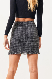 MinkPink What A Woman Tweed Skirt - Front full body
