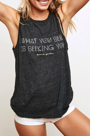 SPIRITUAL GANGSTER What you Seek Chakra Tank - Product Mini Image