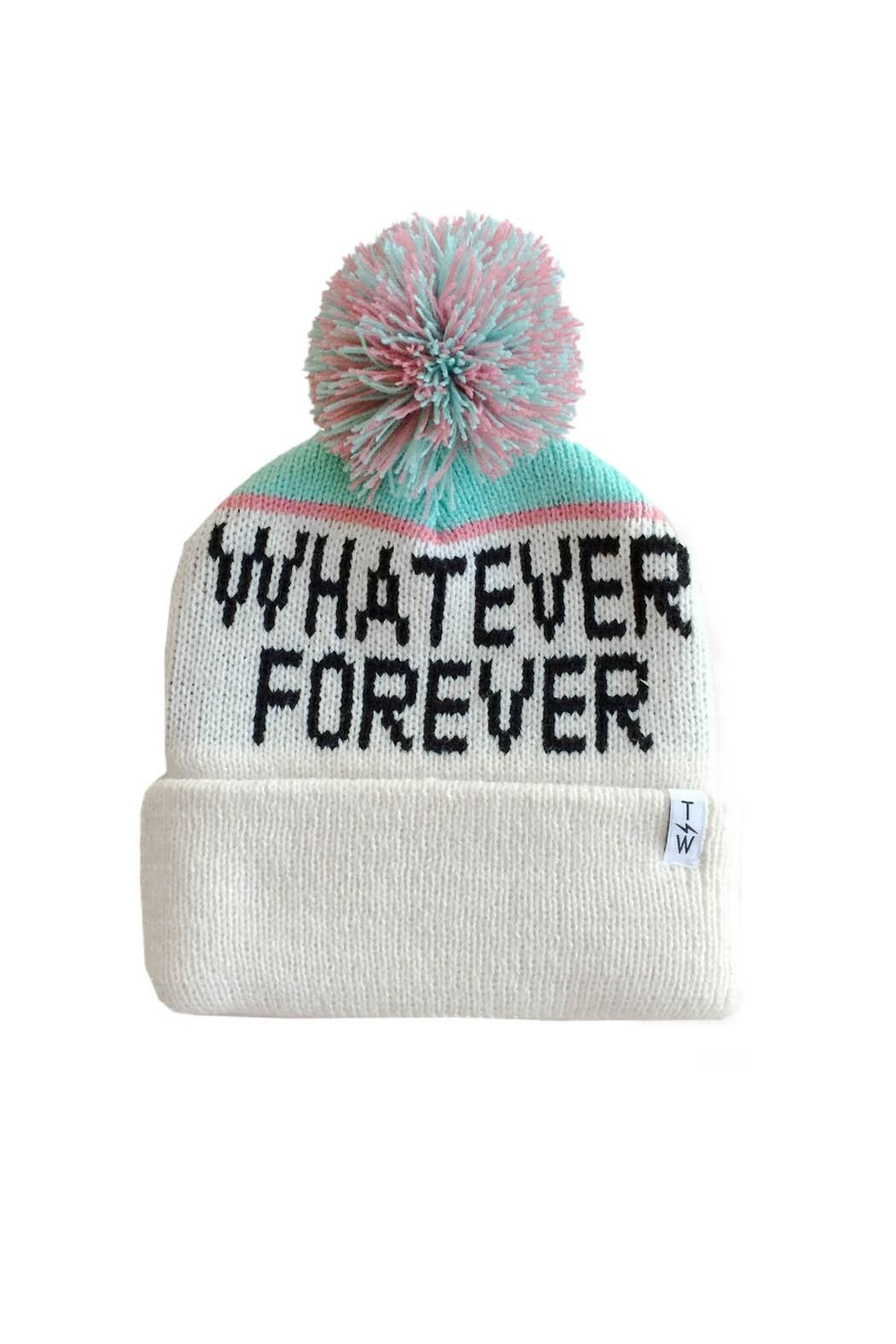 Tiny Whales Whatever Forever Beanie - Front Cropped Image