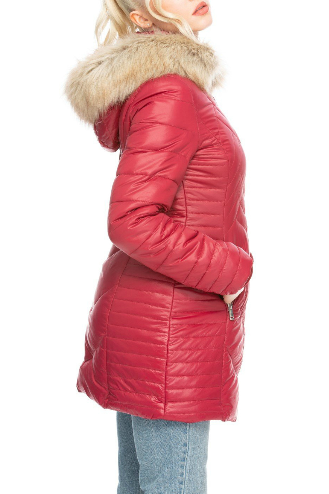 Coalition Whats the stitch hooded coat - Front Full Image