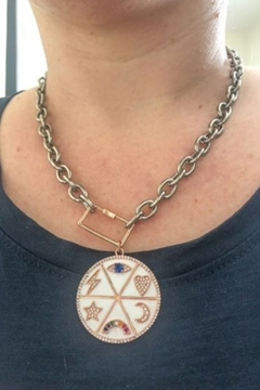 Shoptiques Product: Wheel of Happiness Charm Necklace