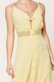 Sugarlips When In Rome Lace Trim Maxi Dress - Back cropped