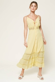 Sugarlips When In Rome Lace Trim Maxi Dress - Front cropped