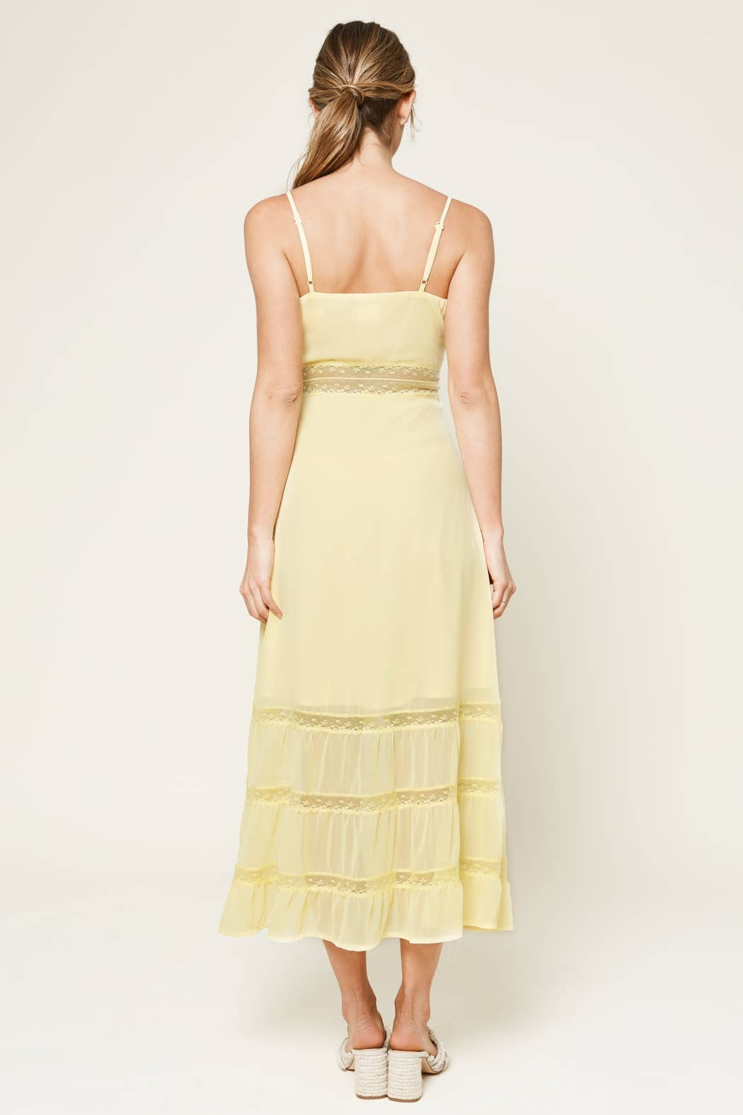 Sugarlips When In Rome Lace Trim Maxi Dress - Side Cropped Image
