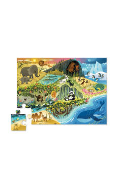 Crocodile Creek Where Animals Live 24 Piece Floor Puzzle - Alternate List Image