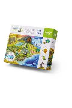 Crocodile Creek Where Animals Live 24 Piece Floor Puzzle - Product List Image