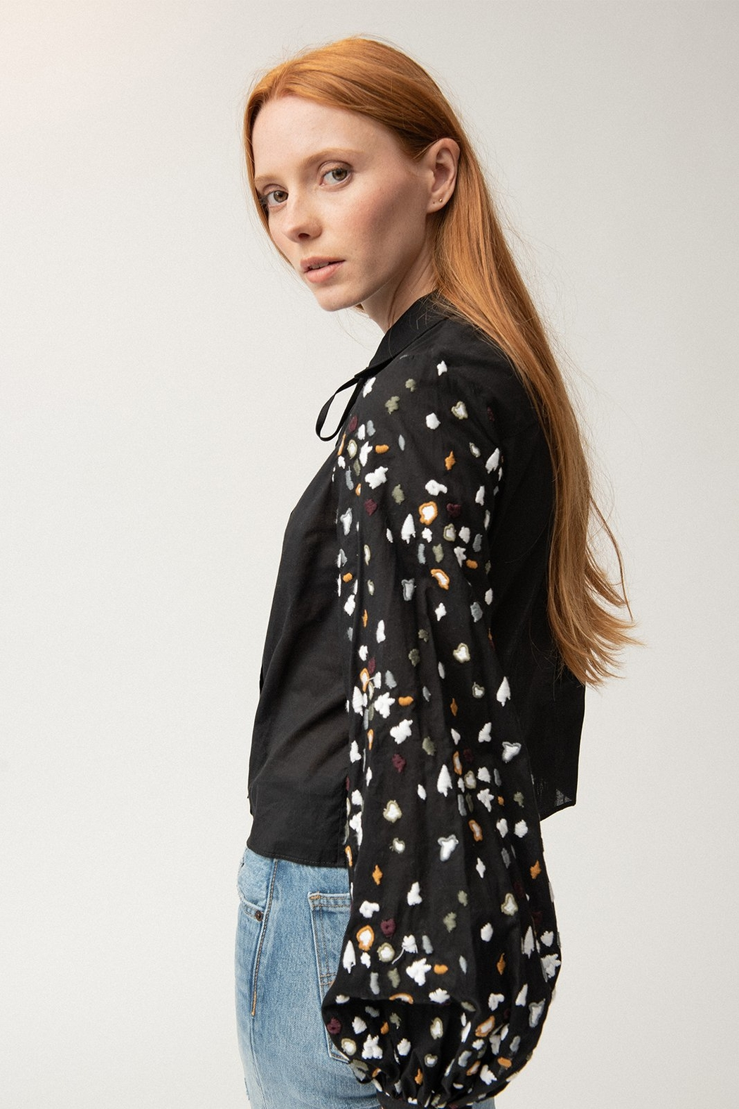 Where Mountains Meet Emmie Blouse - Front Full Image