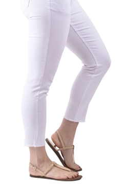 Ethyl  white ankle jean with fray - Alternate List Image