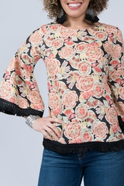 Ivy Jane Whimsical Floral Bell Sleeve Top - Product Mini Image