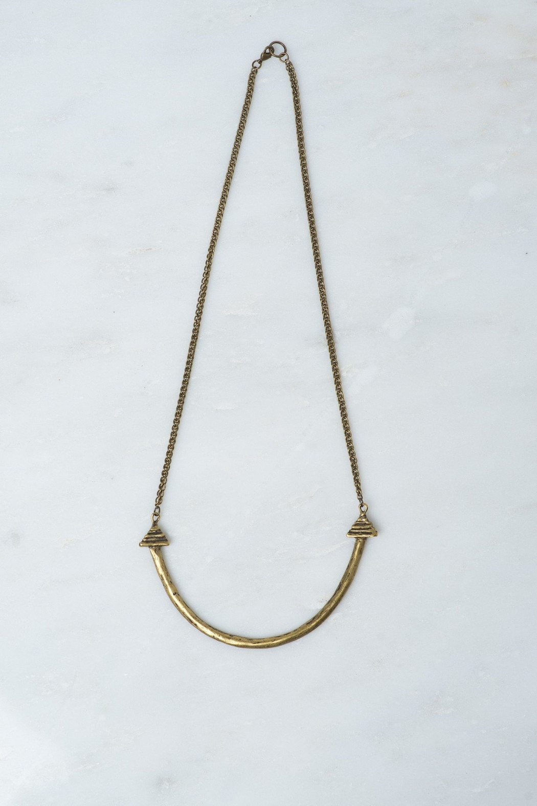 Whimsy and Row Brass Naya Necklace - Main Image