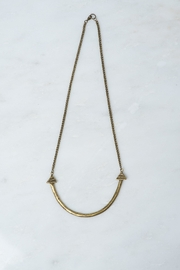 Whimsy and Row Brass Naya Necklace - Front cropped
